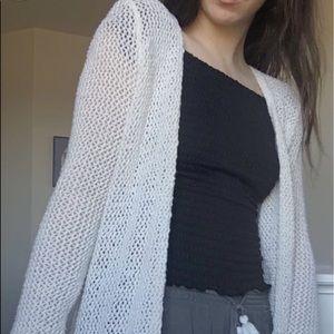 Long cream colored boho cardigan